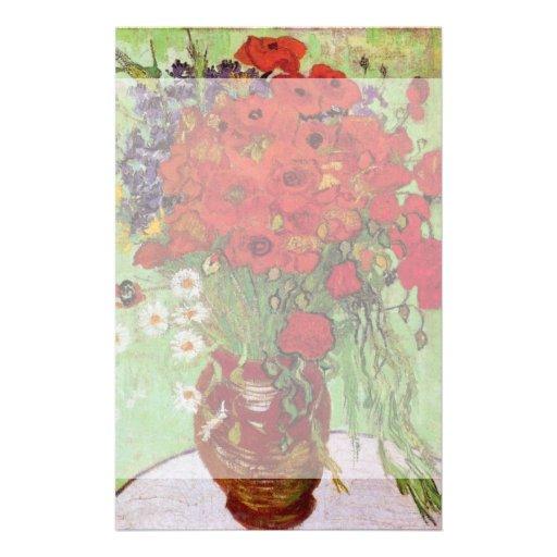 Todavía de Van Gogh amapolas y margaritas rojas de Papeleria Personalizada