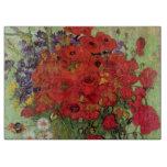 Todavía de Van Gogh amapolas y margaritas rojas de Tabla Para Cortar