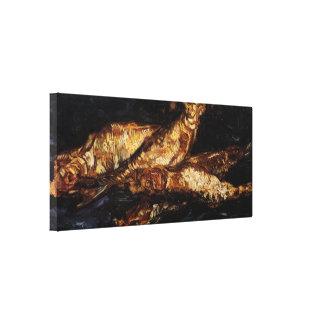 Todavía de Van Gogh arenques ahumados de la vida Impresión En Lona