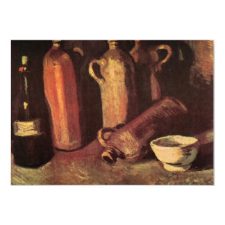 """Todavía de Van Gogh botellas de piedra de la vida, Invitación 5"""" X 7"""""""