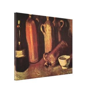 Todavía de Van Gogh botellas de piedra de la vida, Impresión En Lienzo Estirada