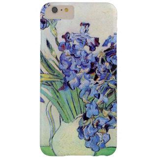 Todavía de Van Gogh florero con los iris, arte de Funda De iPhone 6 Plus Barely There
