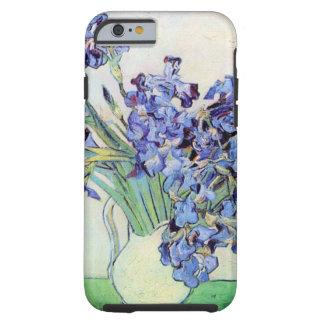 Todavía de Van Gogh florero con los iris, arte de Funda De iPhone 6 Tough