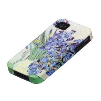 Todavía de Van Gogh florero con los iris, arte de Case-Mate iPhone 4 Carcasas