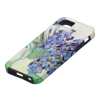 Todavía de Van Gogh florero con los iris, arte de iPhone 5 Cárcasas
