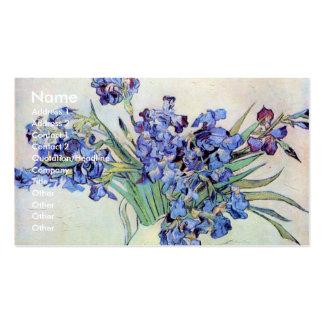 Todavía de Van Gogh florero con los iris, arte de Tarjetas De Visita