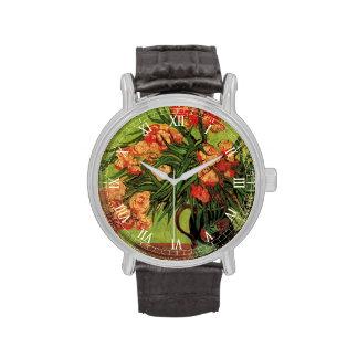 Todavía de Van Gogh florero de la vida con los Reloj