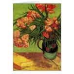 Todavía de Van Gogh florero de la vida con los Tarjetón