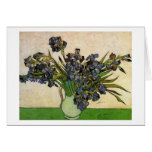 Todavía de Van Gogh florero de la vida, iris viole Felicitación