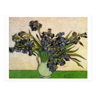 Todavía de Van Gogh florero de la vida, iris viole Tarjetas Postales