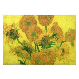 Todavía de Van Gogh girasoles del florero quince d Manteles Individuales