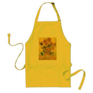 Todavía de Van Gogh girasoles del florero quince Delantal