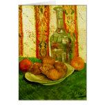 Todavía de Van Gogh jarra de la vida y placa de lo Felicitación
