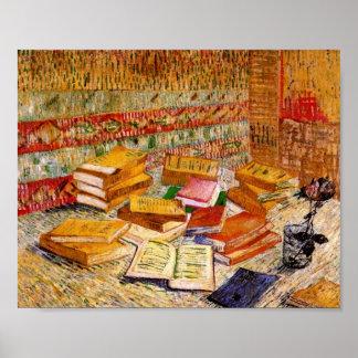 Todavía de Van Gogh novelas francesas de la vida y Póster