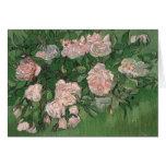 Todavía de Van Gogh rosas rosados de la vida (F595 Felicitación