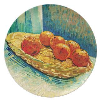 Todavía de Van Gogh vida: Cesta, seis naranjas (F3 Platos De Comidas