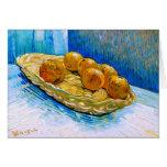 Todavía de Van Gogh vida: Cesta, seis naranjas (F3 Tarjetón