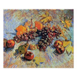 Todavía de Van Gogh vida con el poster de las manz