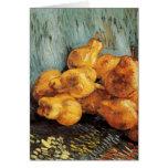 Todavía de Van Gogh vida con las peras del membril Tarjetón
