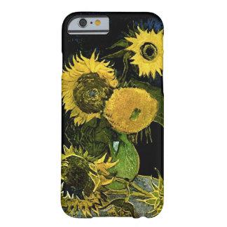 Todavía de Van Gogh vida: Florero, cinco girasoles Funda De iPhone 6 Barely There
