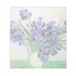 Todavía de Van Gogh vida: Florero con los iris, ar Blocs De Notas