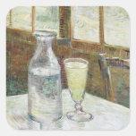 Todavía de Vincent van Gogh vida con bella arte Pegatina Cuadrada