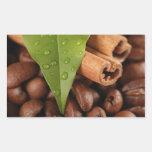 Todavía del café vida asombrosa rectangular pegatina