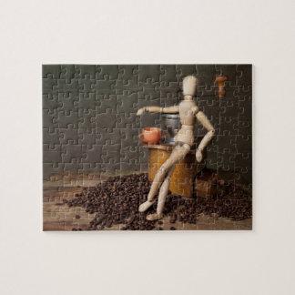 Todavía del café vida puzzle con fotos