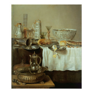Todavía del desayuno vida, 1638 póster