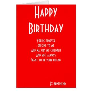 todavía del Ex-novio tarjetas de cumpleaños de los