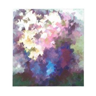 todavía del florero pintura al óleo abstracta de libretas para notas