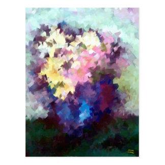 todavía del florero pintura al óleo abstracta de tarjeta postal