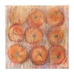 Todavía del naranja impresión grande de la lona de lona envuelta para galerias