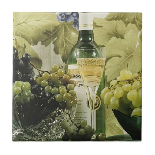 Todavía del vino teja Trivet de la vida