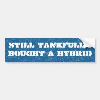 Todavía depósito lleno compré un híbrido etiqueta de parachoque