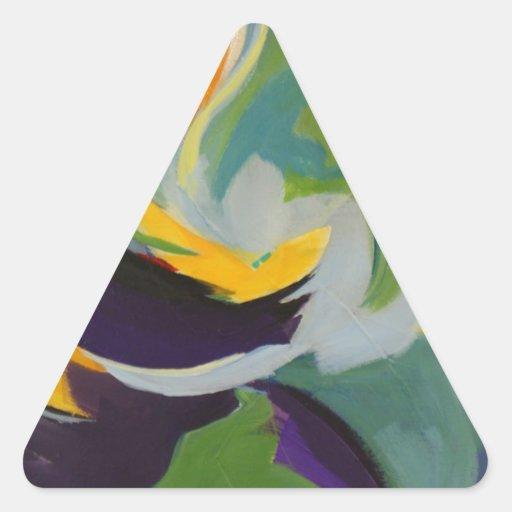Todavía dulce pegatinas trianguladas personalizadas