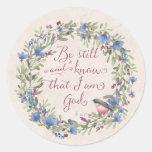Todavía esté y sepa - el 46:10 del salmo pegatina redonda