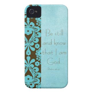 Todavía esté y sepa el verso de la biblia iPhone 4 fundas