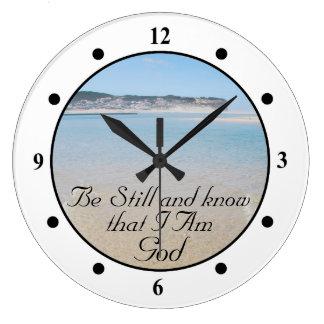 Todavía esté y sepa que SOY 46:10 del salmo de la Reloj Redondo Grande