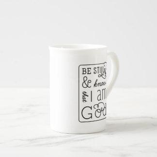 Todavía esté y sepa que soy taza del verso de la taza de porcelana