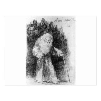 Todavía estoy aprendiendo por Francisco Goya Tarjetas Postales