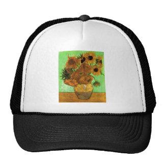 Todavía florero con doce girasoles - Van Gogh de Gorras