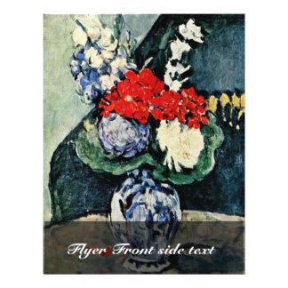 Todavía florero de Delft con las flores de Paul Cé Tarjeta Publicitaria