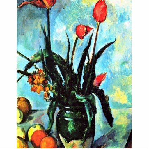 Todavía florero de la vida con los tulipanes de Pa Escultura Fotografica