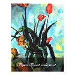 Todavía florero de la vida con los tulipanes de Pa Tarjetones