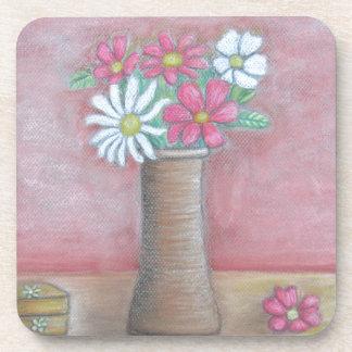 todavía flores de la vida posavasos de bebidas