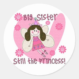 Todavía hermana grande la princesa pegatina redonda