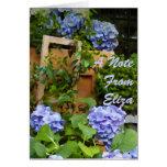 Todavía Hydrangeas del azul de la vida Tarjeta