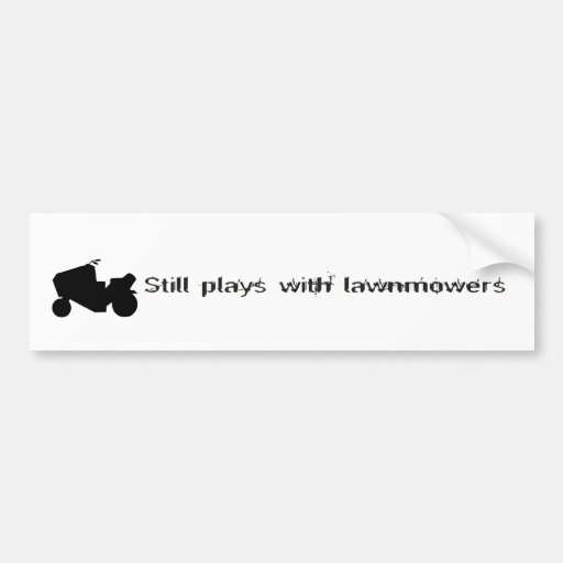 Todavía juegos con la pegatina para el parachoques pegatina para auto