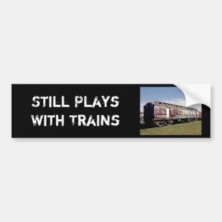 Todavía juegos con los trenes pegatina para auto